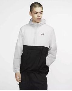 Nike SB Skate Anorak Jacket Mens Vast Grey Color Size L AO0296-079