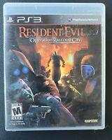 Resident Evil: Operation Raccoon City (Sony PlayStation 3, 2012) PS3