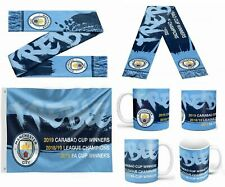 Manchester City Winners Football Treble 2018/ 2019 Premiership Mug / Flag Gift