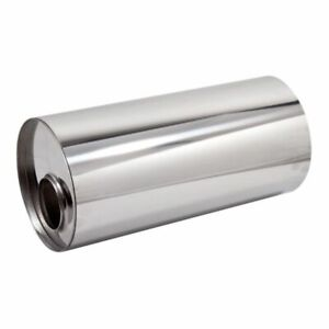 Universal 304 Stainless Steel Exhaust Silencer, Round, Centre to Offset Variants