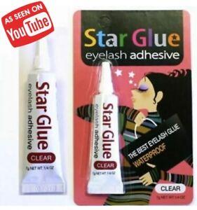 Star Glue Eye Lash Lashes Best Adhesive Waterproof Long Lasting Clear 7g Strong!