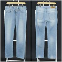 Womens Acne Studios Jeans Hex Light Blue Straight Low Rise Size W29 / L32
