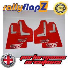 Rallyflapz SUBARU IMPREZA Coupé (08-14) FANGO alette rosso STI Argento 4mm PVC