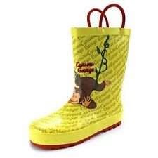 Curious George Kids Rain Boots (9/10 M Us Little Kid, Curious George Yellow)