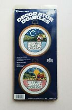 Vogart Crafts Counted Cross Stitch Set Decorator Doubles Country Good Morning