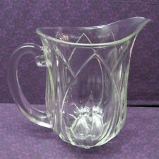 BEAUTIFUL JG CRISTAL D'ARQUES POMPANO LUMINARC TULIP LEAD CRYSTAL WATER PITCHER