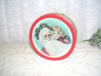Vintage Victorian Santa Claus Coaster Set of six with Tin Box