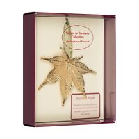 Japanese Maple Real Leaf Ornaments Dipped in 24k Gold - Comes Gift Boxed
