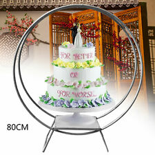 Wedding Cake Stand Metal Round Floral Hoop Arch Event Party Display Holder 80cm