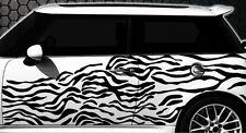 Zebra Pixel Cyber Mimetico Set XXL Adesivo Decalcomania Auto Messa punto murale