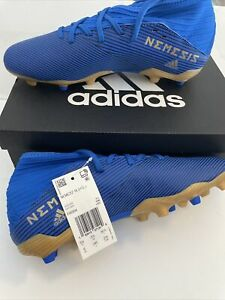 Adidas Soccer Football Shoes Cleats NEMEZIZ 19.3 FG J F99954 Sz 6 NEW Blue Gold
