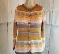 Sparrow Women's Cardigan Sweater Pink Orange Size Small