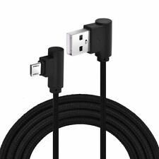 Braided 90 Degree Right Angle Micro USB Fast Data Sync Charger Cable - 2m