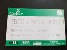 Sammler Used Ticket / Entrada Celtic Glasgow FC v Partick Thistle 06-11-2002 CIS
