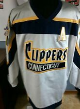 Vintage Connecticut Clippers game worn jersey MJHL Dan Farrelly  NCAA