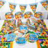 Winnie the Pooh Birthday Party Supplies Bag Balloon Tableware Plates Decoration