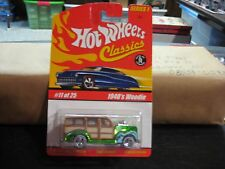 HTF 2004 Hotwheels Classics Series 1 1940's Woodie Lt. Green #11 of 25 MONMC