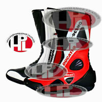 NEW MOTORBIKE DUCATI CORSE RIDING BOOTS MOTORCYCLE DUCATI RACING LEATHER SHOES