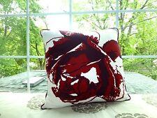 "IKEA Floral JOSEFFA GRAPHIC FLOWER Red Decorative PILLOW COVER Sham 20"" Square"