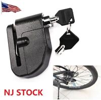 US Disc Brake Motorcycle Lock W/ Loud Alarm Anti Theft Security for Scooter Bike