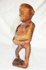 Central New Guinea Dani Tribe Wood Carving Pregnant Woman Motif (Eic)