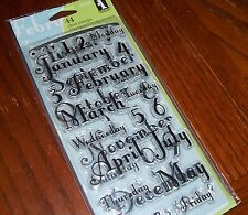 CLEAR ACRYLIC INKADINKADO STAMPS MONTHS & DAYS ~NUMBERS,DAYS of WEEK wks CTMH bk