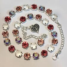 Crystal Cup Chain Necklace  Made With Genuine Swarovski Crystal