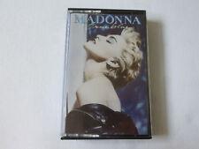 MADONNA ~ TRUE BLUE ~ ORIGINAL SIRE 1986 SYNTH POP CASSETTE TAPE ~ HX-PRO