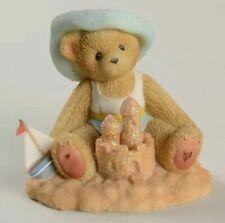 Cherished Teddies Madison Figurine, Beach, Sand Castle, Sailboat, 104680