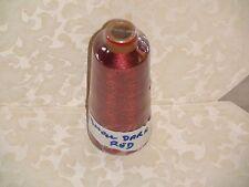 KNITTING MACHINE METALLIC YARN SMALL DARK RED