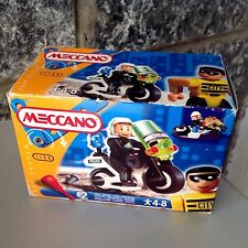 Vintage 1999 Meccano Play System 1100 Police Motorbike  New Misb