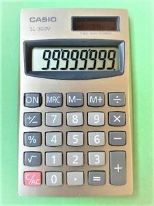 CASIO SOLAR CALCULATOR BASIC SCHOOL OFFICE SILVER JAPAN SL300V