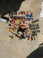 Lot Of 86 Piece VINTAGE 1960's 1970'S MARX TOY SOLDIER ARMY MEN FIGURES