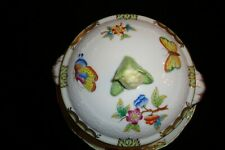 Herend VBO Queen Victoria Lidded  Soup Cup and Saucer