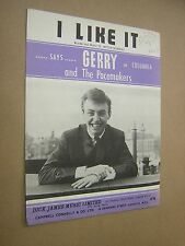 I LIKE IT. GERRY & PACEMAKERS. 1963. ORIGINAL VINTAGE SHEET MUSIC SCORE