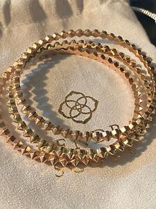 *Kendra Scott Set of 3 Remy Bangle Braclets-Rose & Yellow