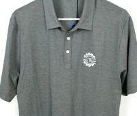 Travis Mathew New Golf Polo Shirt Gray White Pima Cotton Poly Blend Mill Shop M