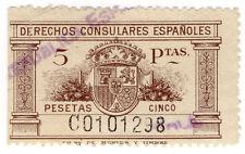 (I.B) Spain Revenue : Consular Service 5ptas
