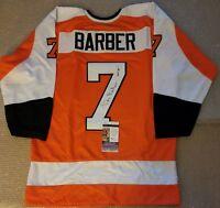 Bill Barber Signed Pro Style Jersey Philadelphia Flyers Inscribed JSA COA
