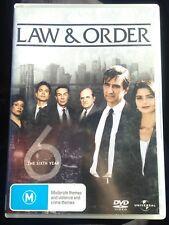(Rare Aus Region 4) Law and Order: The Sixth Year Season/ Series 6, 5 Disc DVD