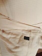 """Ralph Lauren Lrl Throw Blanket 100% Cotton Usa King Cream 108""""x90"""" Vintage"""