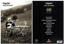 "JACQUES HIGELIN ""Coup De Foudre"" 12 Titres (PARTITIONS / SHEET MUSIC) 2010"