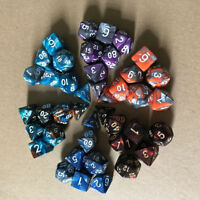 TRPG Game Dungeons & Dragons Polyhedral D4-D20 Multi Sided Acrylic Dice 7pcs/Set