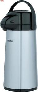 Thermos Lever Action Pump Pot Glass Flask 2.5L Tea Coffee Outdoor Travel