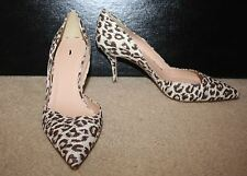 J.CREW COLETTE D'ORSAY PUMPS IN SAFARI PRINT SIZE 10M IVORY BROWN SILVER E7588