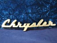 Vintage Chrysler Metal Script Emblem Grille Nameplate Ornament Trim Collectible!