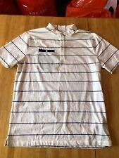 Nike Golf Short Sleeve Polo Shirt Top White Striped AT8946-133 Men's M Medium