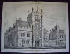 ST.MARY MAGDALENE'S COLLEGE OXFORD UNIVERSITY Antique 19th Century Plate 1880*