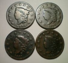 1820, 1827, 1829 AND 1830 LARGE CENT