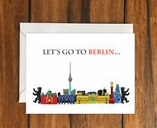 Vayamos a Berlín Vacaciones Idea de Regalo A6 Tarjeta de felicitación